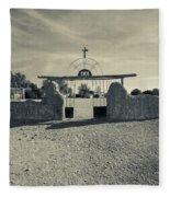 View Of Abandoned Church Gate Fleece Blanket