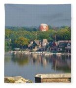 View Of Boathouse Row  Fleece Blanket