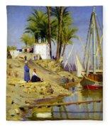 View Of Cairo Fleece Blanket