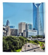 view of Charlotte North Carolina Fleece Blanket