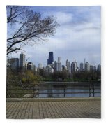 View Of Chicago Fleece Blanket