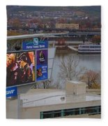 View Of Cincinnati Fleece Blanket