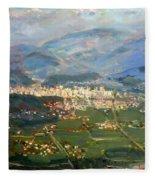 View Of Elbasan City Fleece Blanket