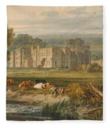 View Of Hampton Court Fleece Blanket