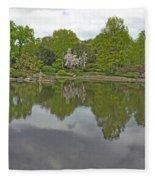 View Of Japanese Garden, Wroclaw, Poland Fleece Blanket