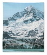 View Of Margerie Glacier In Glacier Bay Fleece Blanket