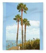 View Of Marina Fleece Blanket
