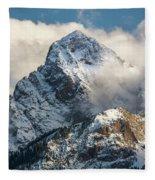 View Of Mount Sneffels And San Juan Fleece Blanket