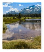 View Of Mount Tallac From Taylor Creek Beach Lake Tahoe Fleece Blanket
