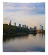 View Of Philadelphia From The Girard Avenue Bridge Fleece Blanket