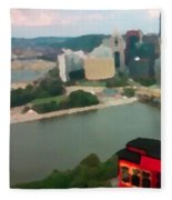 View Of Pittsburgh From Mt. Washington Fleece Blanket