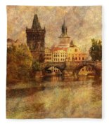 View Of Prague Fleece Blanket