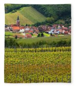View Of Rodern From The Vineyards Of Alsace Fleece Blanket