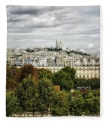 View Of Sacre Coeur From The Musee D'orsay Fleece Blanket