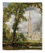 View Of Salisbury Cathedral From The Bishop's Grounds Fleece Blanket