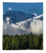 View Of San Juan Mountains With Clouds Fleece Blanket