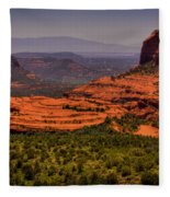 View Of Sedona From The East Fleece Blanket
