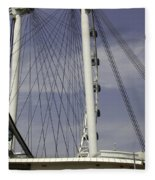 View Of Spokes Of The Singapore Flyer Along With The Base Section Fleece Blanket