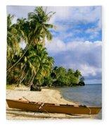 View Of Tahiti Fleece Blanket