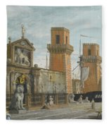 View Of The Arsenale. Venice Fleece Blanket