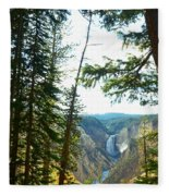 View Of The Canyon Fleece Blanket