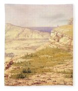 View Of The Island Of Rhodes Fleece Blanket