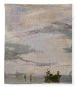 View Of The Lagoon Near Venice, 1826  Fleece Blanket