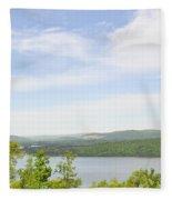 View Of The Mountains Of Alabama Fleece Blanket