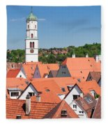 View Of The Old Town With St. Martins Fleece Blanket