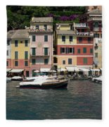 View Of The Portofino, Liguria, Italy Fleece Blanket