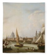 View Of The River Thames  Fleece Blanket