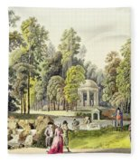 View Of The Temple Of Diana At Erlaw Fleece Blanket