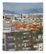 View Of Tirana From Dajti Mountain Fleece Blanket