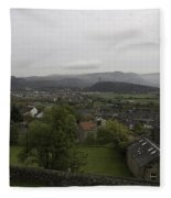 View Of Wallace Monument And Houses And Surrounding Areas Fleece Blanket