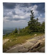 View On Top Of Cadilac Mountain In Acadia National Park Fleece Blanket