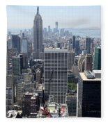 View Over Manhattan I Fleece Blanket