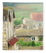 View Over Saint Emilion France 1 Fleece Blanket