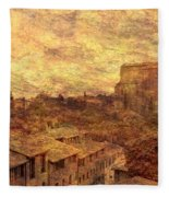 View Over Siena And San Domenico Fleece Blanket