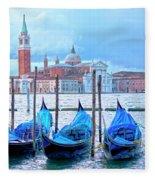 View To San Giorgio Maggiore Fleece Blanket