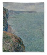 View To The Sea From The Cliffs Fleece Blanket