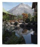 Viewing Arenal Volcano Fleece Blanket