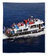 Views From Santorinia Greece Fleece Blanket