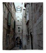 Views From Split Croatia Fleece Blanket