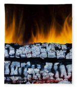 Views From The Fireplace Fleece Blanket