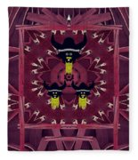 Vikings  And Leather Pop Art Fleece Blanket