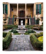Villa Courtyard Fleece Blanket