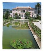 Villa Ephrussi De Rothschild With Reflection Fleece Blanket