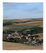 Village In A French Landscape  Fleece Blanket