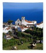 Village In Azores Islands Fleece Blanket
