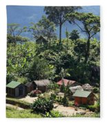 village in eastern Madagascar Fleece Blanket